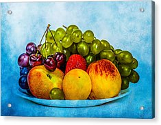 Acrylic Print featuring the photograph Plate Of Fresh Fruits by Alexander Senin