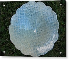 Plate With Pedestal And Convoluted Rim Acrylic Print by Julia Van Dine