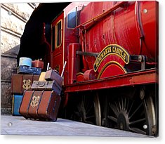 Platform Nine And Three Quarters Acrylic Print by Julia Wilcox
