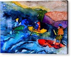 Platte River Paddling Acrylic Print
