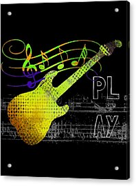 Acrylic Print featuring the digital art Play 2 by Guitar Wacky