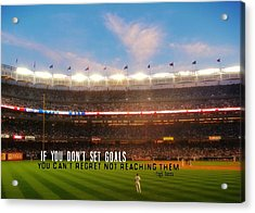 Play Ball Quote Acrylic Print by JAMART Photography