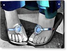 Play Footsie Acrylic Print by Karen M Scovill