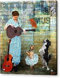 Play For Us Please. Acrylic Print by Maz