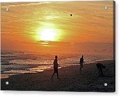 Play On The Beach Acrylic Print
