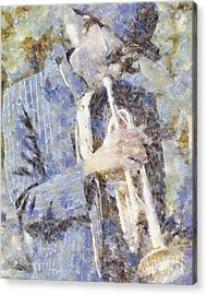 Play The Blues Acrylic Print by Shirley Stalter