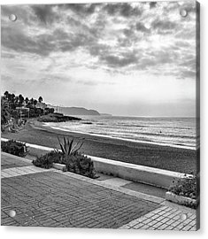 Playa Burriana, Nerja Acrylic Print by John Edwards