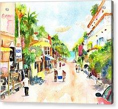 Playa Del Carmen Mexico Shops Acrylic Print