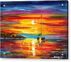 Playa Del Sol Acrylic Print by Jessilyn Park
