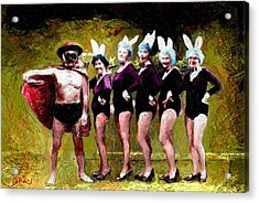 Playboy And Bunnies Acrylic Print
