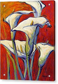Acrylic Print featuring the painting Playful Calas 2 by Konnie Kim