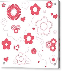 Playful Flower Background Acrylic Print by Serena King
