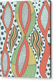 Acrylic Print featuring the drawing Playful Insanity by Jill Lenzmeier