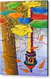 Playful Pond Acrylic Print by Hugh Harris