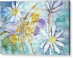 Acrylic Print featuring the painting Playfulness by Jasna Dragun