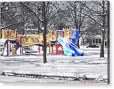 Acrylic Print featuring the photograph Playground 16d by Brian Gryphon