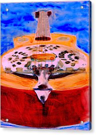Acrylic Print featuring the painting Playin The Blues by FeatherStone Studio Julie A Miller