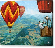 Acrylic Print featuring the painting Playing Catch by Jason Marsh