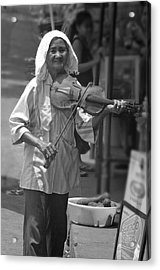 Playing For Food 3 Acrylic Print by Jez C Self