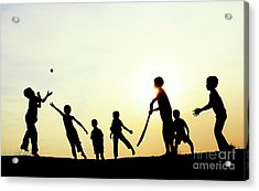 Playing French Cricket Acrylic Print
