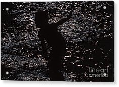 Acrylic Print featuring the photograph Playing In The Water by Edward R Wisell