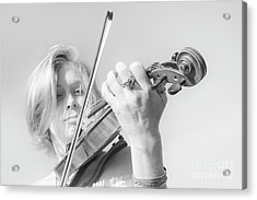 Playing Me Softly Acrylic Print by Bob Christopher