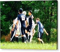 Playing Soccer Acrylic Print