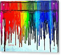 Playing With Colors - Da Acrylic Print by Leonardo Digenio