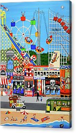 Playland In The Afterlife Acrylic Print by Evangelina Portillo