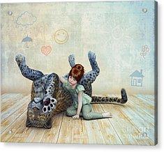 Playmate Acrylic Print by Jutta Maria Pusl