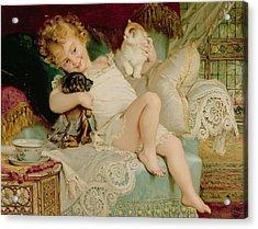 Playmates Acrylic Print by Emile Munier