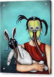 Playtime  2050 Acrylic Print by Leah Saulnier The Painting Maniac