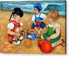 Playtime At The Beach Acrylic Print