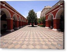 Acrylic Print featuring the photograph Plaza At Santa Catalina Monastery by Aidan Moran