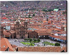 Acrylic Print featuring the photograph Plaza De Armas, Cusco, Peru by Aidan Moran