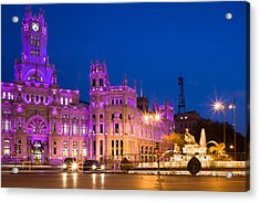 Plaza De Cibeles In Madrid Acrylic Print by Artur Bogacki