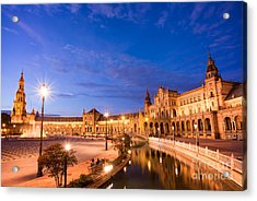 Plaza De Espana At Night Acrylic Print