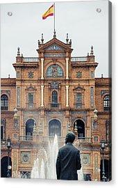 Plaza De Espana - Details From Seville 2  Acrylic Print by Andrea Mazzocchetti