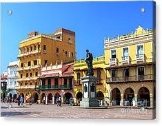 Plaza De Los Coches Acrylic Print by John Rizzuto