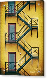 Plaza Fire Escape Acrylic Print
