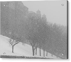 Plaza Impressionism With Kc Snow Acrylic Print