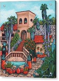 Plaza Jardin Acrylic Print by Lorraine Klotz