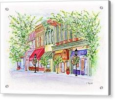 Plaza Shops Acrylic Print