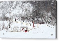 Acrylic Print featuring the photograph Pleasant Hike In Snow by Charline Xia