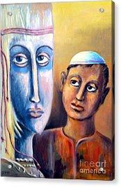 Please Acrylic Print by Ushangi Kumelashvili