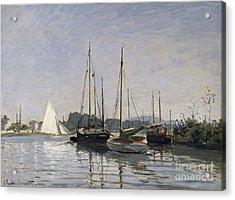 Pleasure Boats Argenteuil Acrylic Print by Claude Monet