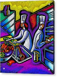 Acrylic Print featuring the painting  Pleasure Of The Food Preparation by Leon Zernitsky