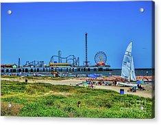 Pleasure Pier Sunny Day Acrylic Print