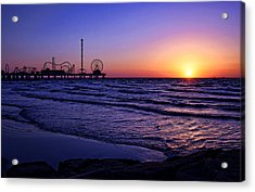 Pleasure Pier Sunrise Acrylic Print