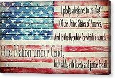 Pledge Of Allegiance American Flag Acrylic Print